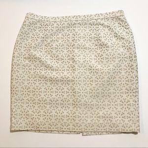 Michael Kors Textured White Mini Skirt